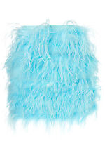 TOPSHOP PREMIUM BLUE FEATHER MINI SKIRT