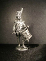 France Line Infantry Drummer 1812 Year 1/32 Scale Unpainted Tin Figure