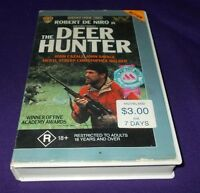 THE DEER HUNTER VHS PAL WARNER DE NIRO WALKEN