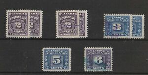 Canada 4 Postage Due & 4 Excise Tax Stamps, mostly used