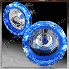 """3"""" Round Blue Halo Chrome / Clear Glass Lens Fog Driving Lights Lamp Universal 2"""