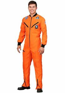 Adult Orange Astronaut Jumpsuit Costume