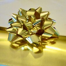 "90 ct Gold Gift Bows 4"" Metallic Gold Bows with stickers. Ask for 10 count +"