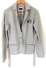 L'Argentina Damen Jacke / Jackett - 100 % Baumwolle - Hell Grau - Größe: L - NEU