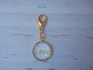 Zipper Charm, bracelet Charm, planner decoration - Love Charm