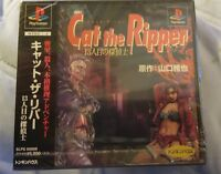 Ps1 JAPAN Cat The Ripper BLACKLABEL Brand NEW Playstation1 Game.SOME CASE CRACKS