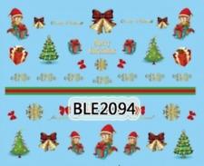 Nailart stickers décalcomanie ongles décorations de Noël cadeaux lutins sapins