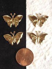 "25 Gold Butterflies Fabric Butterfly Scrapbooks Cards Embellishments Crafts 3/4"""
