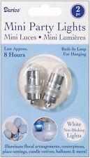 Non-Blinking Mini Party Lites 2/Pkg - White