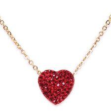 Modeschmuck-Halsketten aus Edelstahl mit Herz-Schliffform