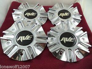 Avenue AVE Chrome Custom Wheel Center Cap # C623901 (4 CAPS)
