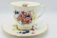 Vintage Duchess Decorative Bone China Flowered Rose Tea Cup And Saucer Set