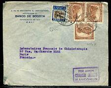 Colombie - Enveloppe commerciale de Bogota pour la France en 1937 - ref D204