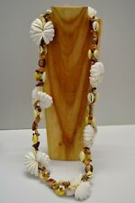 SUPERBE GRAND COLLIER en COQUILLAGES ANNEES 1970 SEVENTIES COLLECTION VINTAGE N1