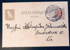 Iceland Reykjavik 1914 lettercard printef