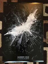 The Dark Knight Rises Original Movie Poster 27X40 Double Sided U.S. Advance 2011
