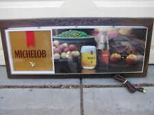 """Vintage 1984 34"""" MICHELOB Lighted Bar Sign *New, in box NEVER USED man cave MINT"""