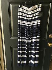 New Chico's Knit Kit Navy Blue Ink White Stripe Palazzo Pants 3 XL 16 18 NWT 4