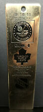 Vintage NHL1981 Brass Ticket Keychain Winnipeg Jets Toronto Maple Leafs