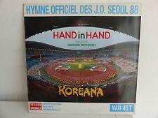 "MAXI 12"" GIORGIO MORODER Hand in hand Jeux olympiques Seoul Koreana 887730 1"