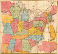 "24""x24"" USA Andrews Railroad Map of the United States Geographicus 1852"