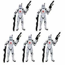 """Lot of 5 Star Wars Clone Wars Red Dot Clone Trooper 3.75"""" Loose Action Figure"""