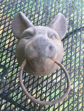 Cast Iron Pig  Head Vintage Towel Holder Very Heavy, Door Stop If You Like