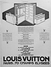 AD PRINT Original 1927 LOUIS VUITTON TRAVEL BRIEFCASE - MALLE