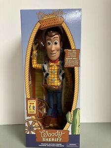 "Disney Store -Toy Story 4 ""Interactive Talking Sheriff Woody"" - Pull String- NEW"