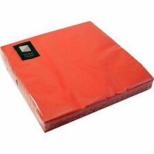 80 x Red 3 Ply Paper Napkins 40cm x 40cm Party Serviettes Tableware Serviette