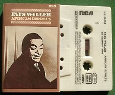 Fats Waller African Ripples inc Yacht Club Swing + Cassette Tape - TESTED