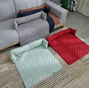 Pet Dog Bed Mat Soft Cover Waterproof Pad Removable Pillow Kennel Puppy Cushion