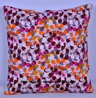 16'' ETHNIC INDIAN CUSHION COVER PILLOW CASE FLORAL SOFA THROW HOME DECOR ART