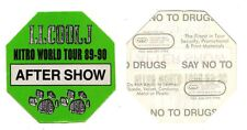 Vintage LL Cool J Green Backstage Pass - 1989-90 Nitro World Tour