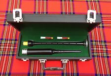Scottish Highland Rosewood Silver Mounts Practice chanter+ carrying box+3 Reeds