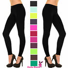 SOLID FULL LENGTH SEAMLESS STRETCH FOOTLESS STOCKINGS LONG PANTS LEGGINGS