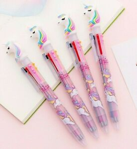 Unicorn Pen 6 Colors Cute Kids Pen Multicolor School Writing Gift Unicorn pink