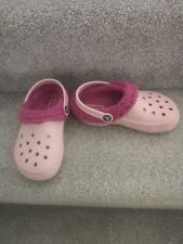 Crocs Kids Classic Clog With Comfy, Warm Liner. Pink