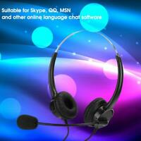 New Office Wired Headset Headphone Tablet Microphone For Mobile Phone PC Tablet