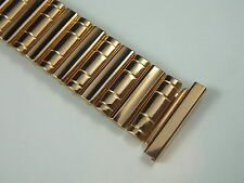 Vintage New NOS unused Pink or Rose Gold Filled Gents 19mm watch band 3/4 inch