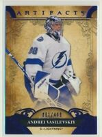 2020-21 Artifacts Blue 61 Andrei Vasilevskiy /499 Tampa Bay Lightning
