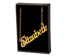 18k Plateó la Collar de Oro Con el Nombre - ELIZABETH - Regalos Para las Mujeres