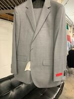 New 42L Men's Light Grey Suit 100% Wool Super 150 Made in Italy Retail $1295