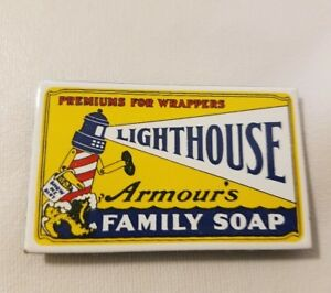 Vintage Armour's Lighthouse Family Soap Advertising Refrigerator Magnet