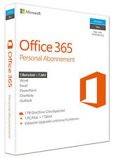 Microsoft Office 365 Personal - 1 PC/MAC + 1Tablet - 1 Jahr Abo - Key