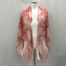 Alexander McQueen Kimono Cape Pink Patterned Silk Women's Occasion 340975