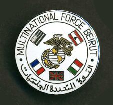 Metal Badge - Multinational Force Beirut Lebanon - USMC Marines - L080