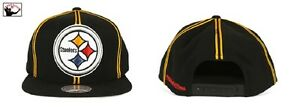 NFL Pittsburgh Steelers Mitchell and Ness Vintage XL LOGO Snapback Hat Cap M&N