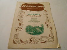Walt Disney's song of the south ,ZIP A DEE DOO DAH ,1946 ,ANIMATED ,VG