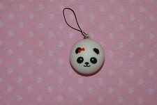 Panda Bread Bun Squishy Cell Phone Charm Kawaii with Red Bow Squishies